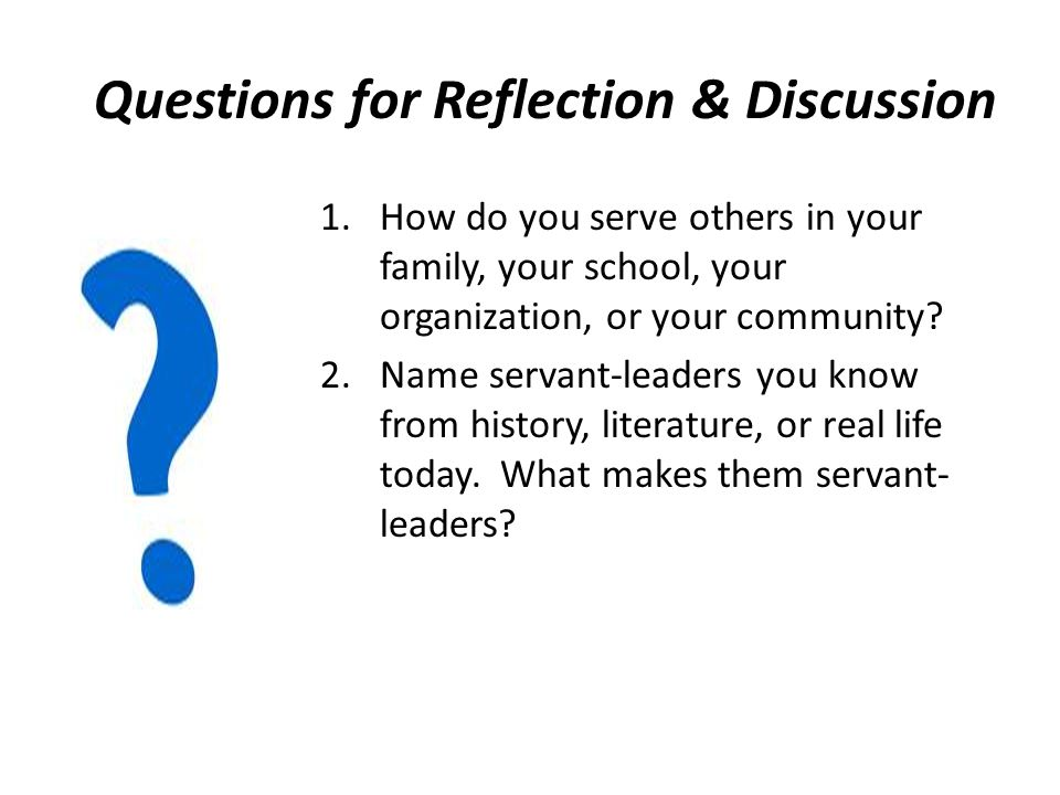 Questions for Reflection & Discussion