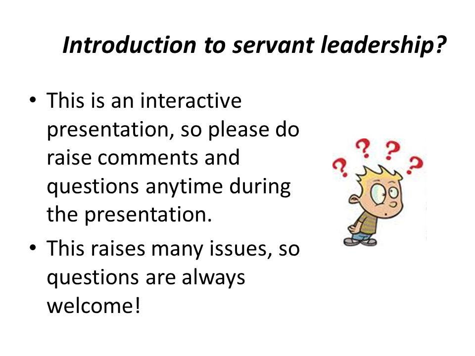 Introduction to servant leadership