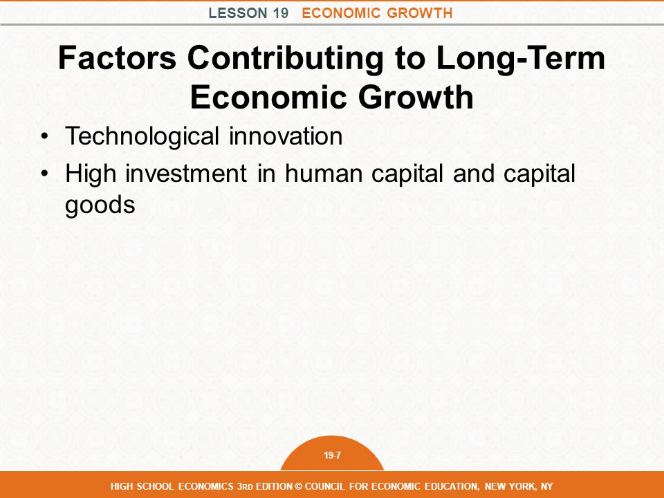 Factors Contributing to Long-Term Economic Growth