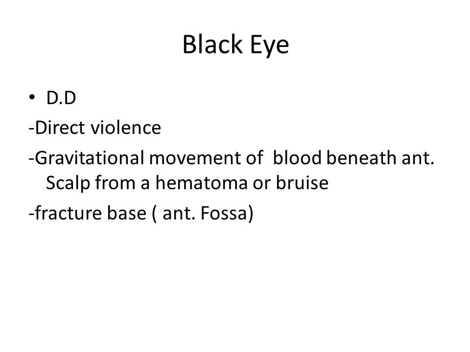 Black Eye D.D -Direct violence