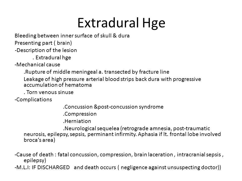 Extradural Hge