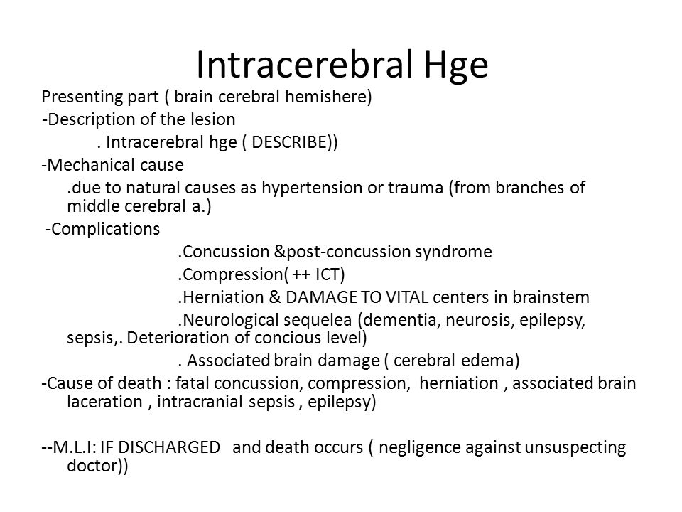 Intracerebral Hge