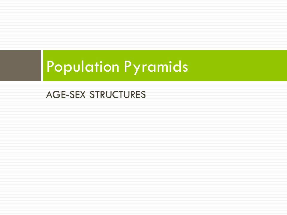 Population Pyramids AGE-SEX STRUCTURES