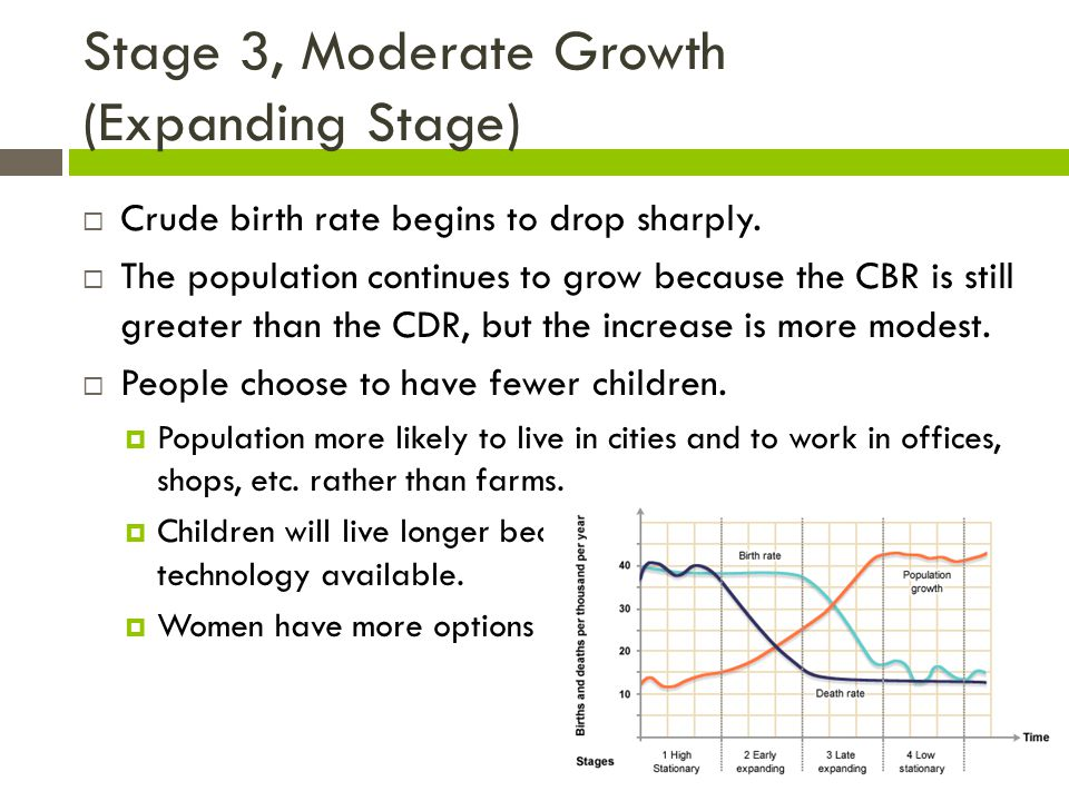 Stage 3, Moderate Growth (Expanding Stage)