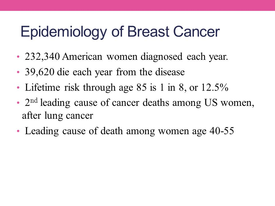 Epidemiology of Breast Cancer