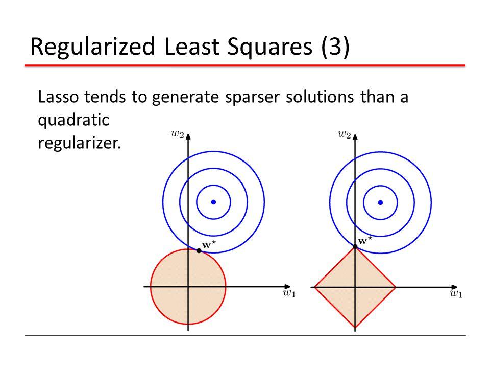 Regularized Least Squares (3)