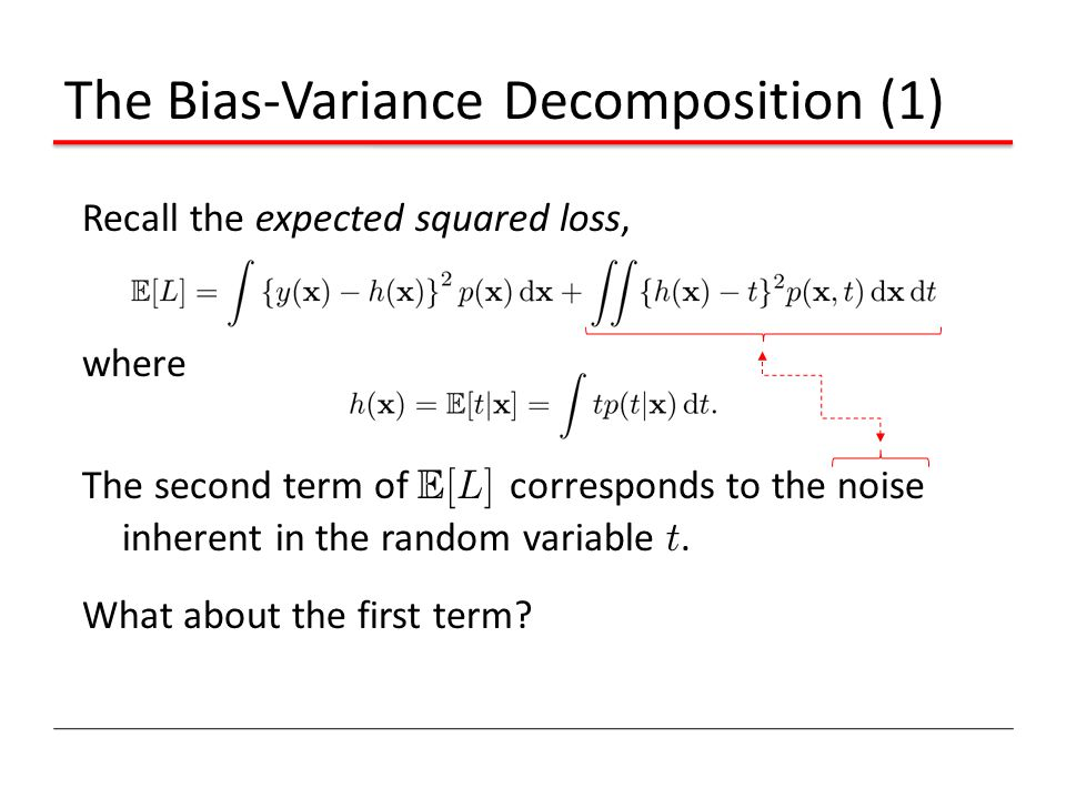 The Bias-Variance Decomposition (1)