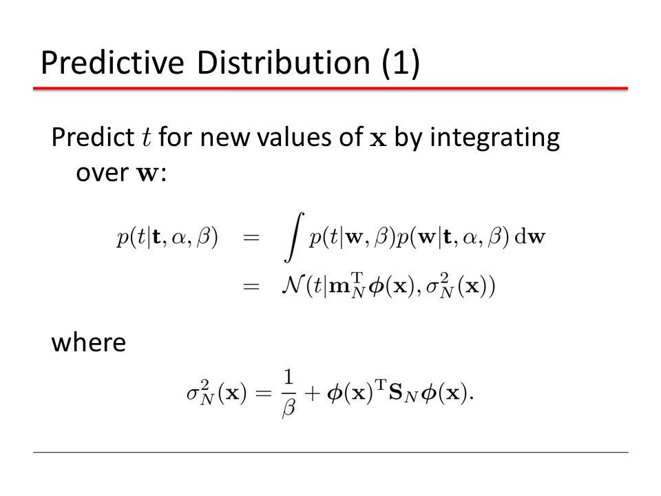 Predictive Distribution (1)