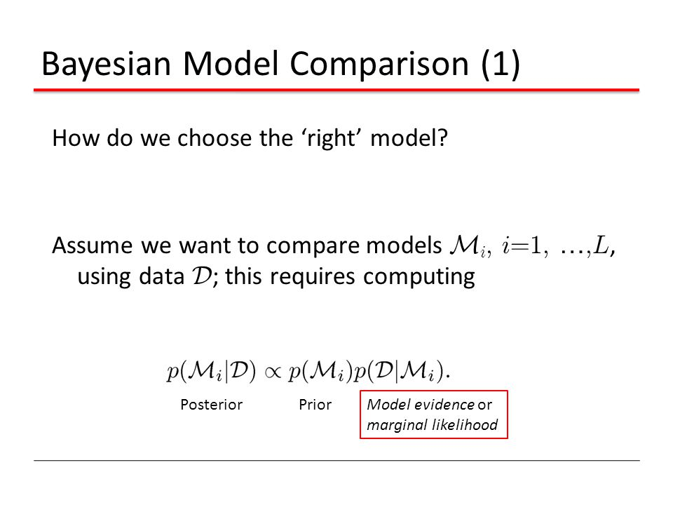 Bayesian Model Comparison (1)