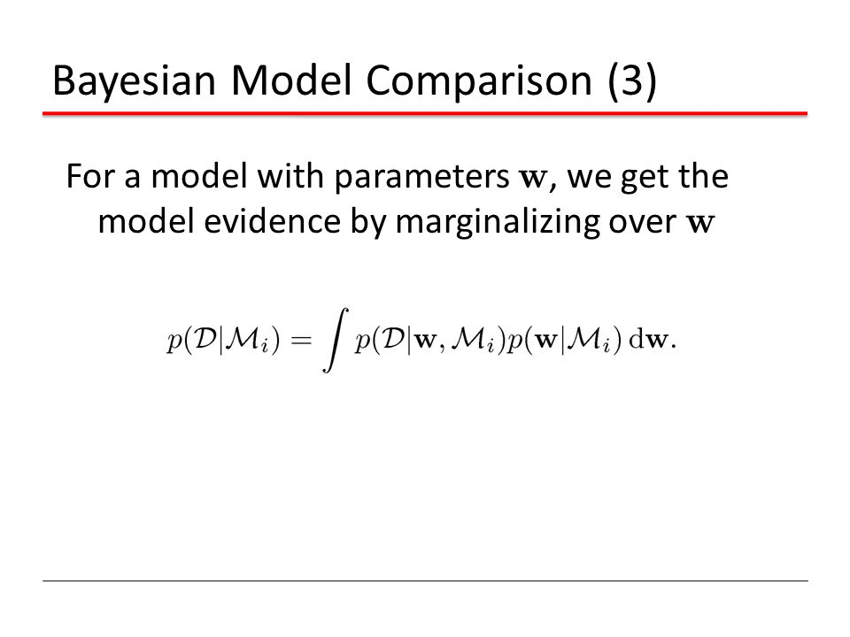 Bayesian Model Comparison (3)