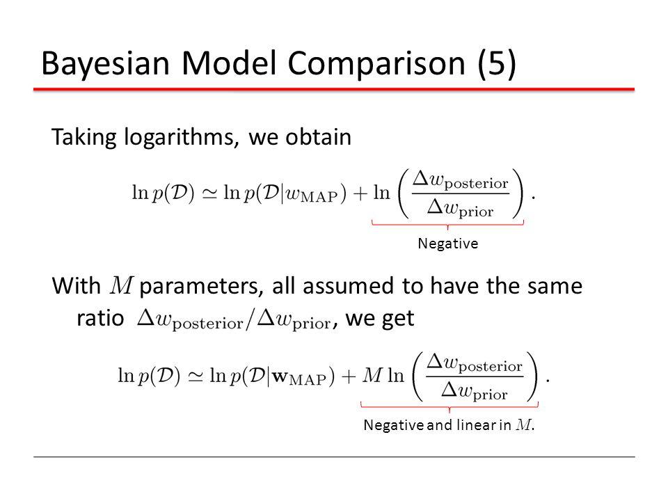 Bayesian Model Comparison (5)