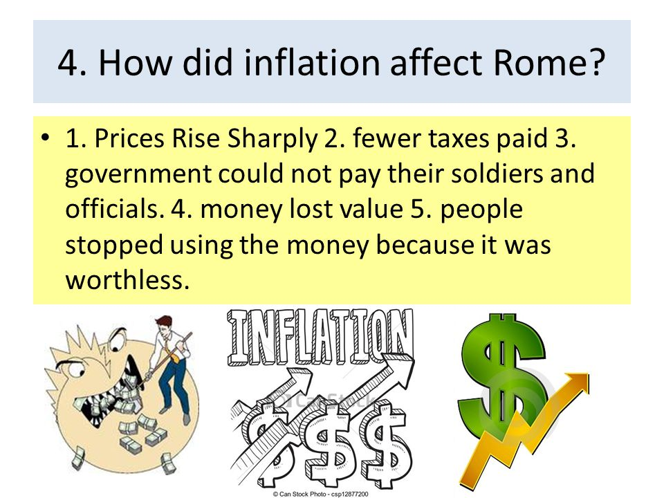 4. How did inflation affect Rome