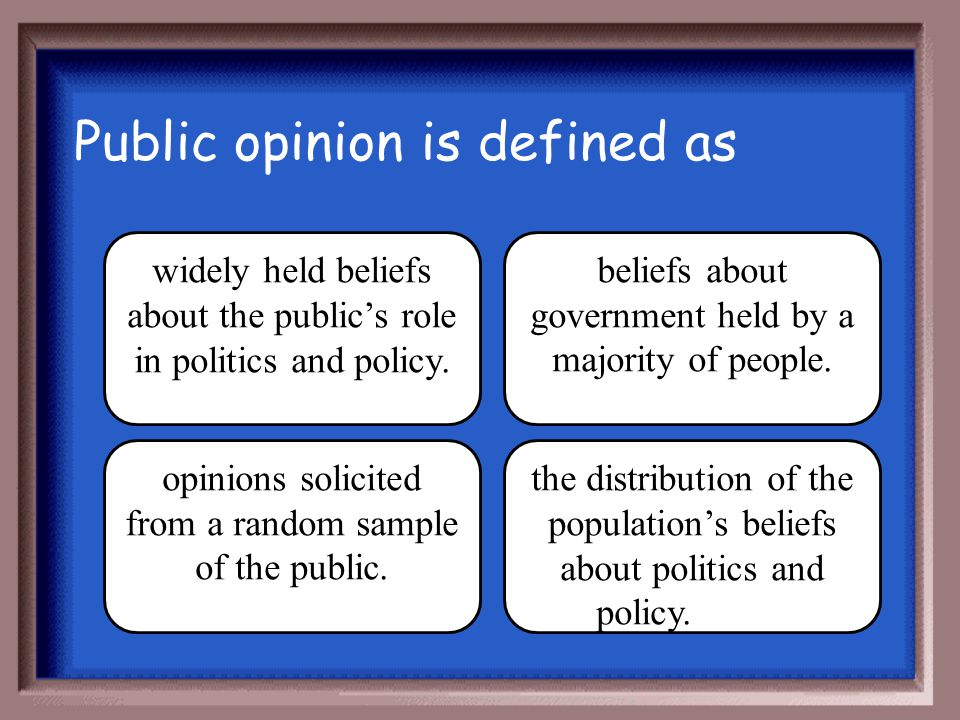 Public opinion is defined as