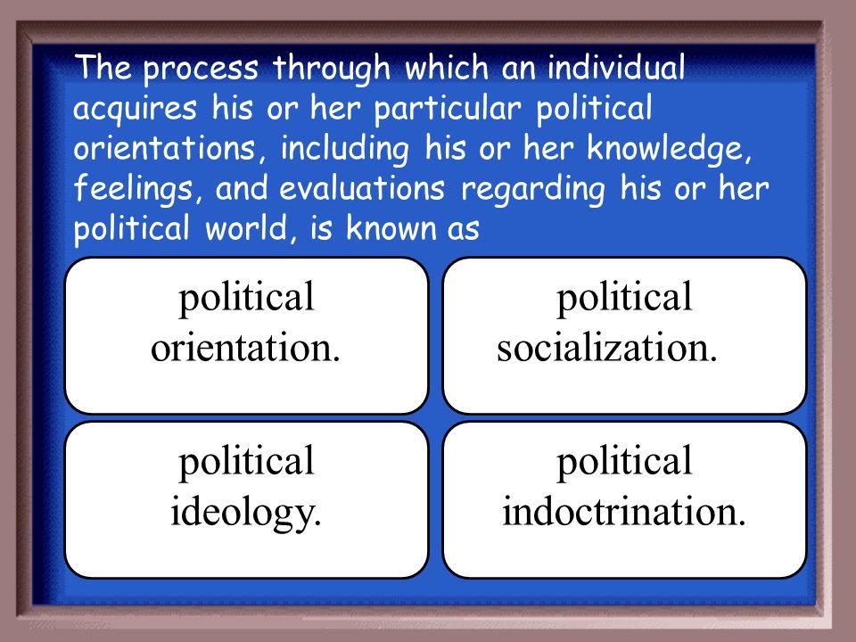 political orientation. political socialization.