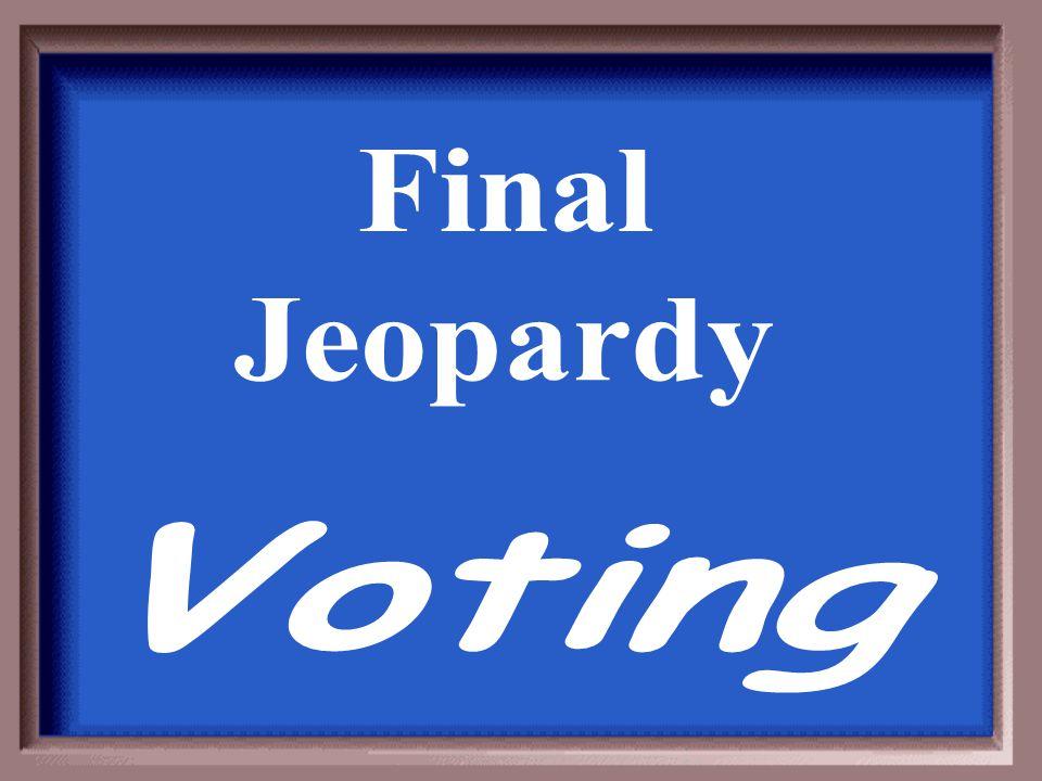 Final Jeopardy Voting