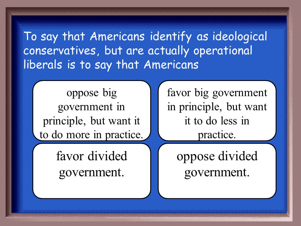 favor divided government. oppose divided government.