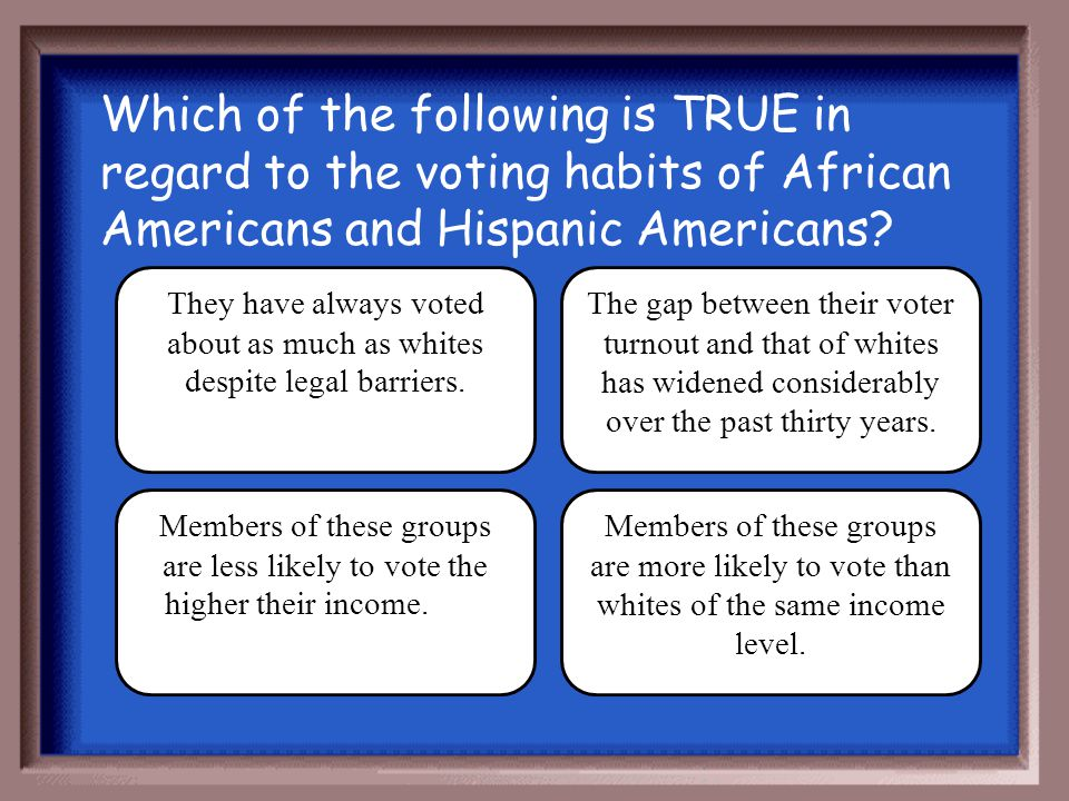 They have always voted about as much as whites despite legal barriers.