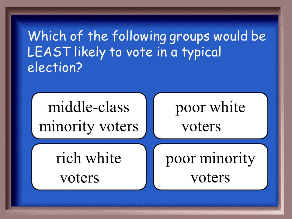 middle-class minority voters