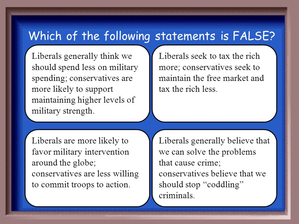 Which of the following statements is FALSE