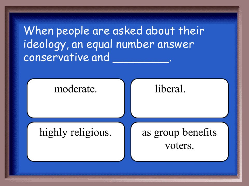 as group benefits voters.