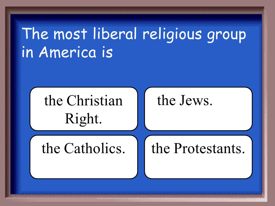 The most liberal religious group in America is