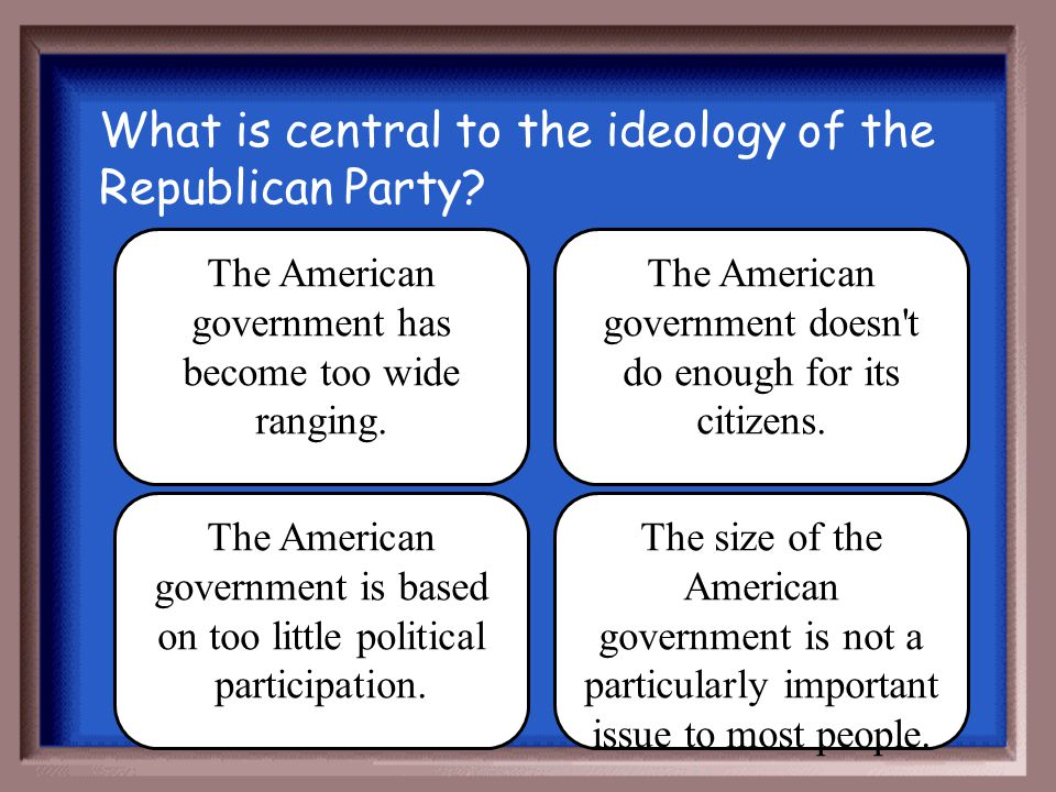 What is central to the ideology of the Republican Party