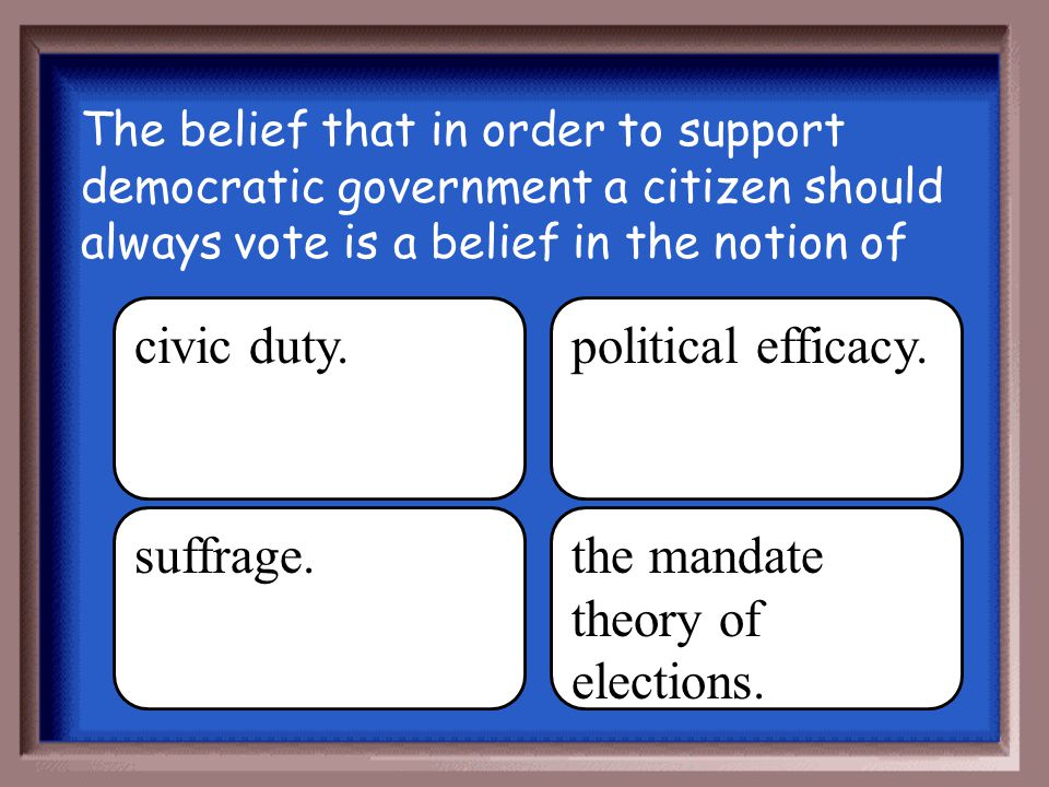 the mandate theory of elections.