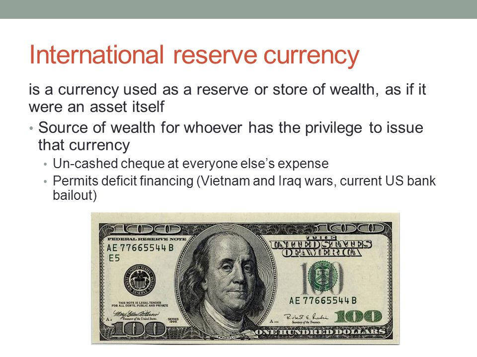 International reserve currency