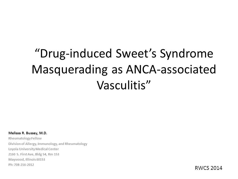 Drug-induced Sweet's Syndrome Masquerading as ANCA-associated Vasculitis