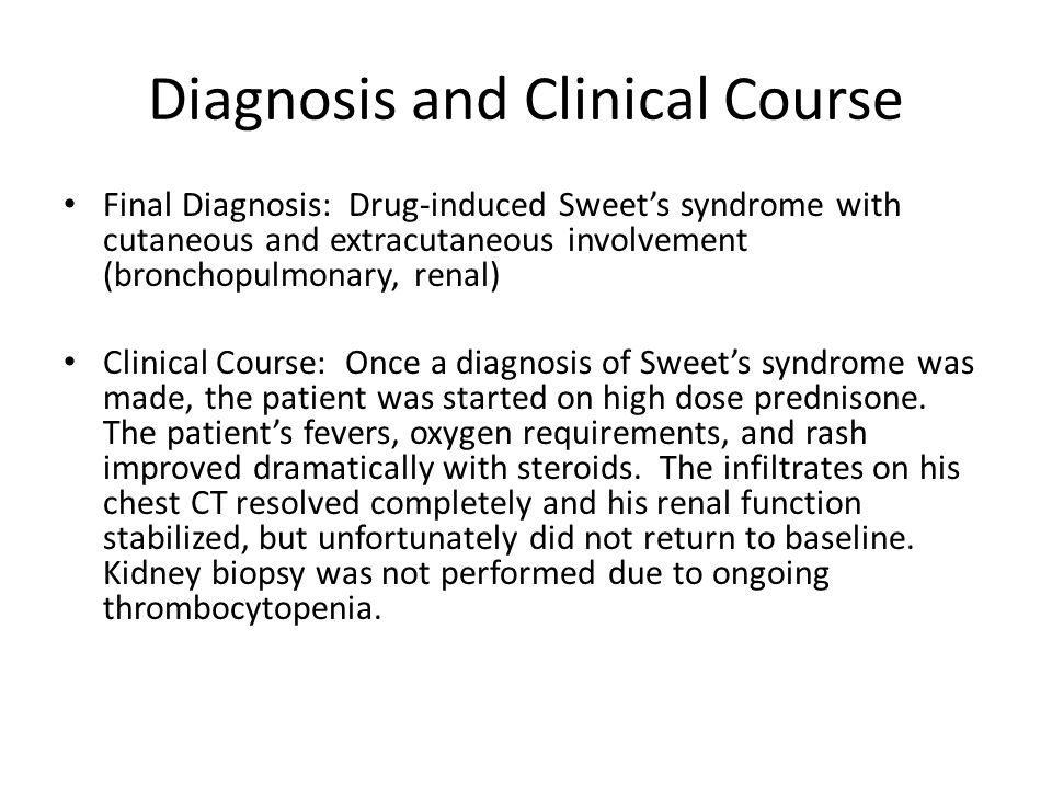 Diagnosis and Clinical Course