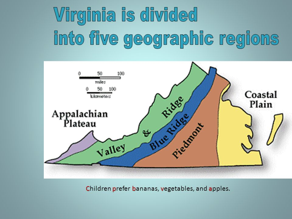into five geographic regions