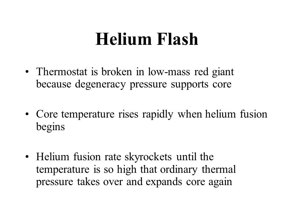 Helium Flash Thermostat is broken in low-mass red giant because degeneracy pressure supports core.