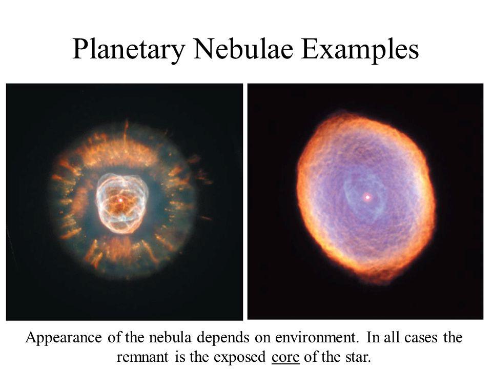 Planetary Nebulae Examples