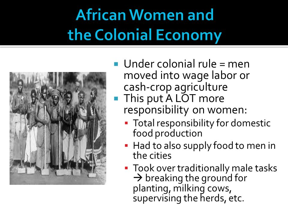 African Women and the Colonial Economy