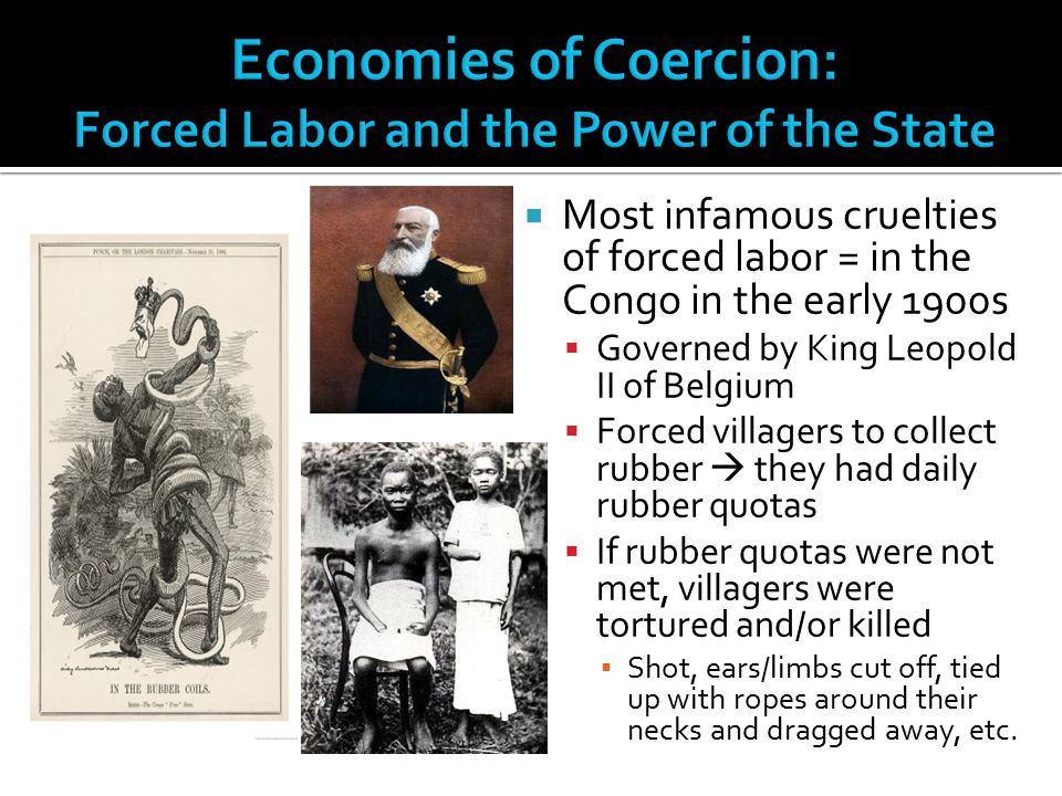 Economies of Coercion: Forced Labor and the Power of the State
