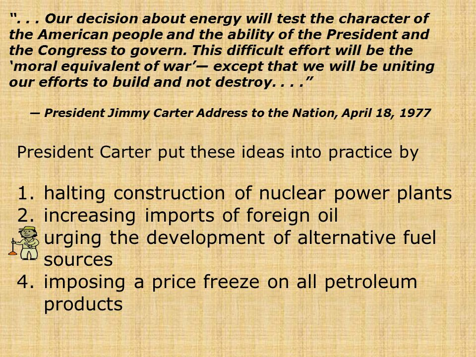 — President Jimmy Carter Address to the Nation, April 18, 1977