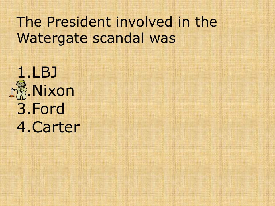 The President involved in the Watergate scandal was