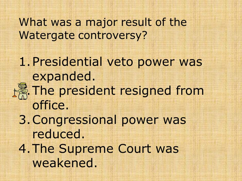Presidential veto power was expanded.