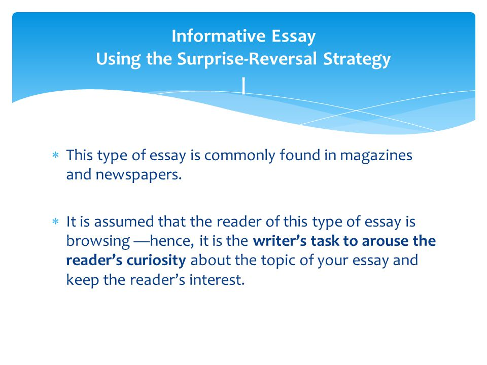 Essay informative topic writing