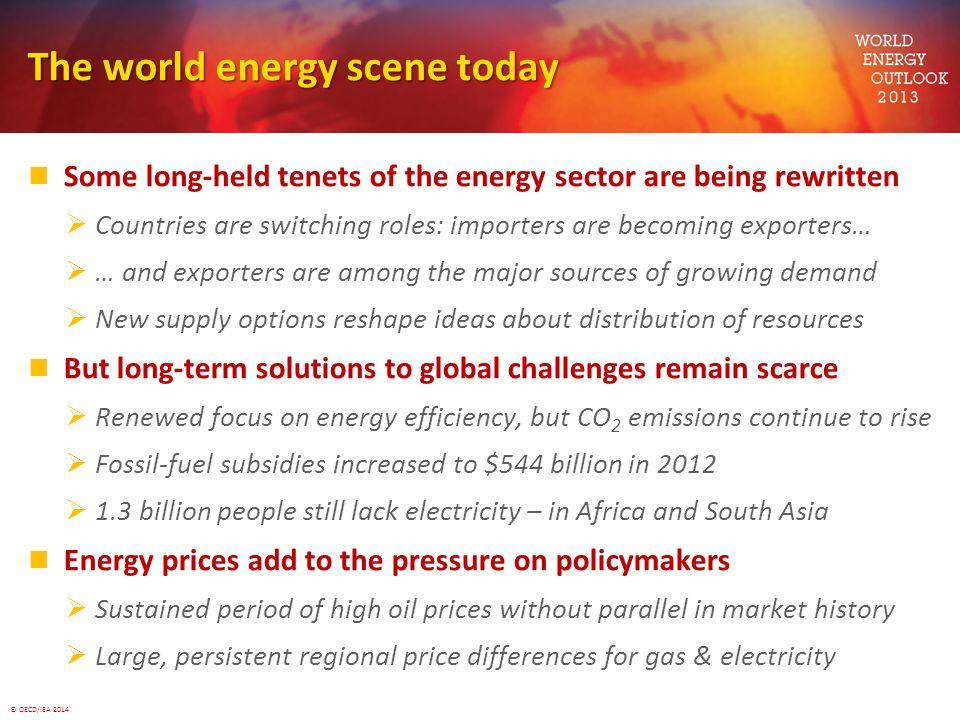 The world energy scene today