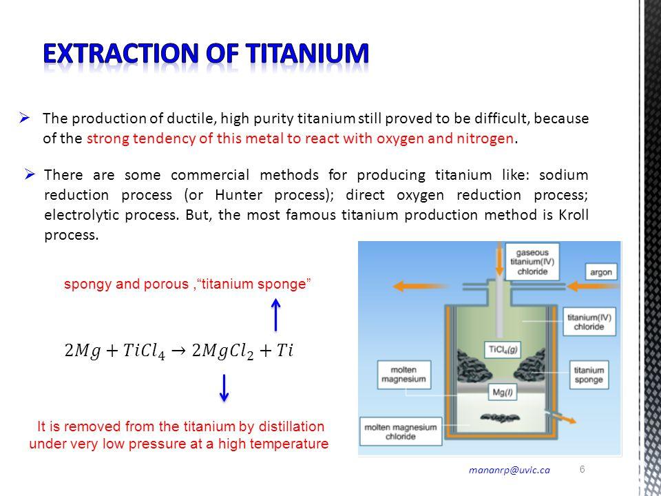 Extraction of Titanium