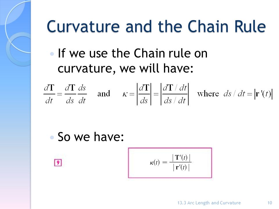 Curvature and the Chain Rule