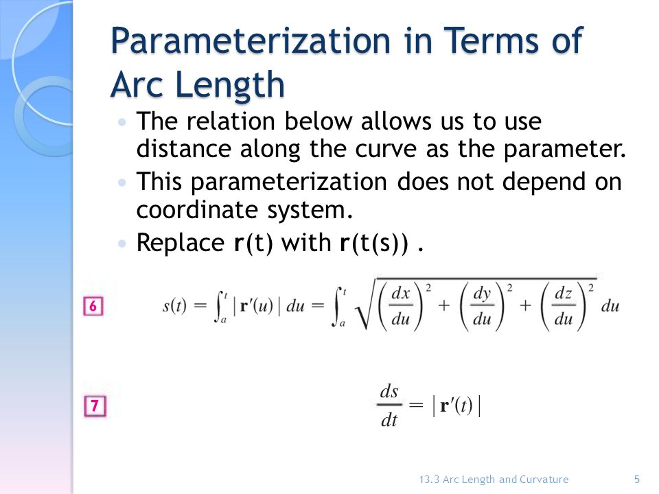 Parameterization in Terms of Arc Length