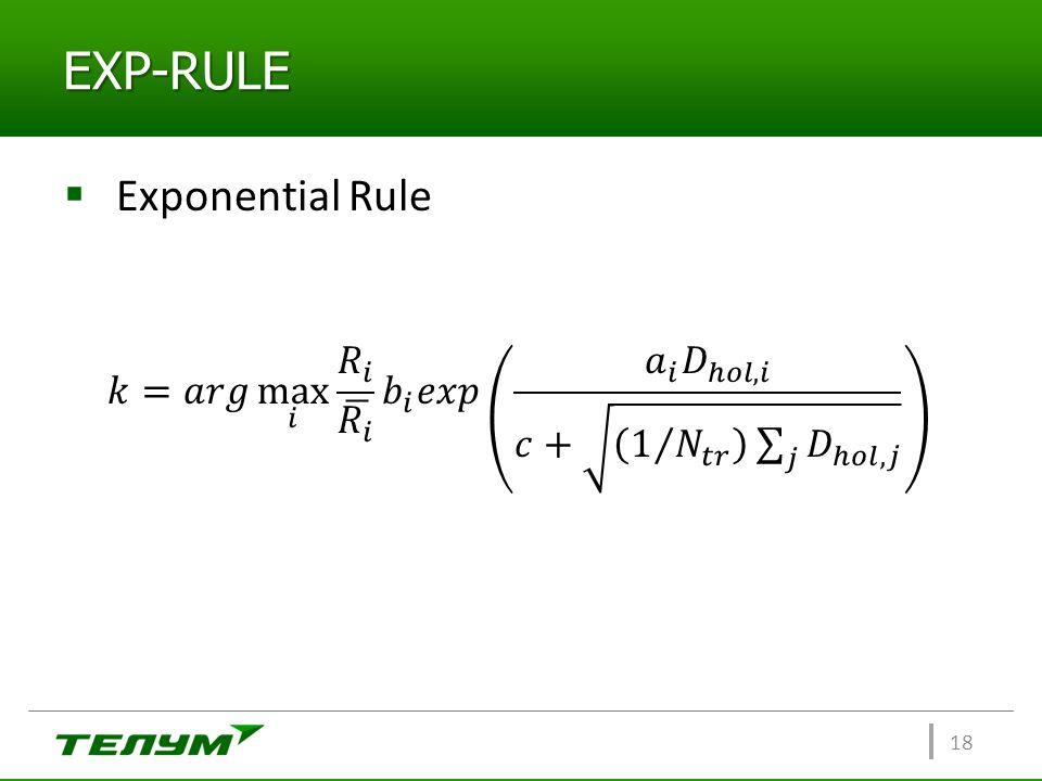 EXP-RULE Exponential Rule