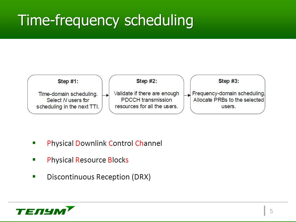 Time-frequency scheduling