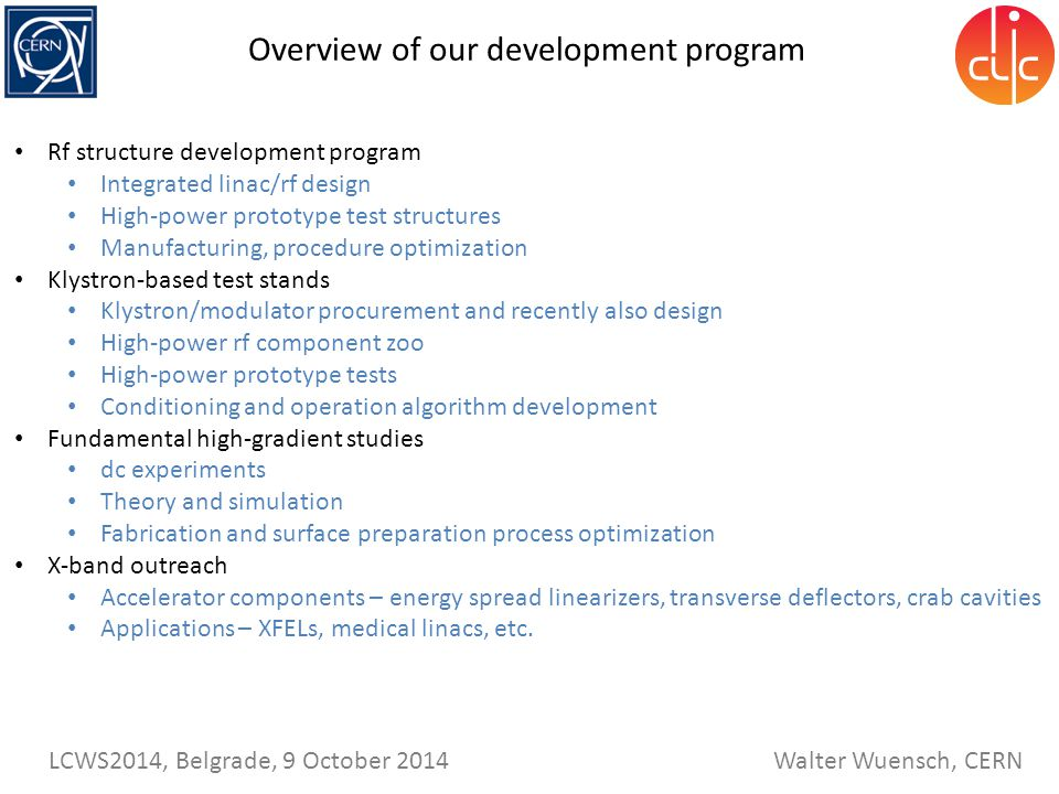 Overview of our development program