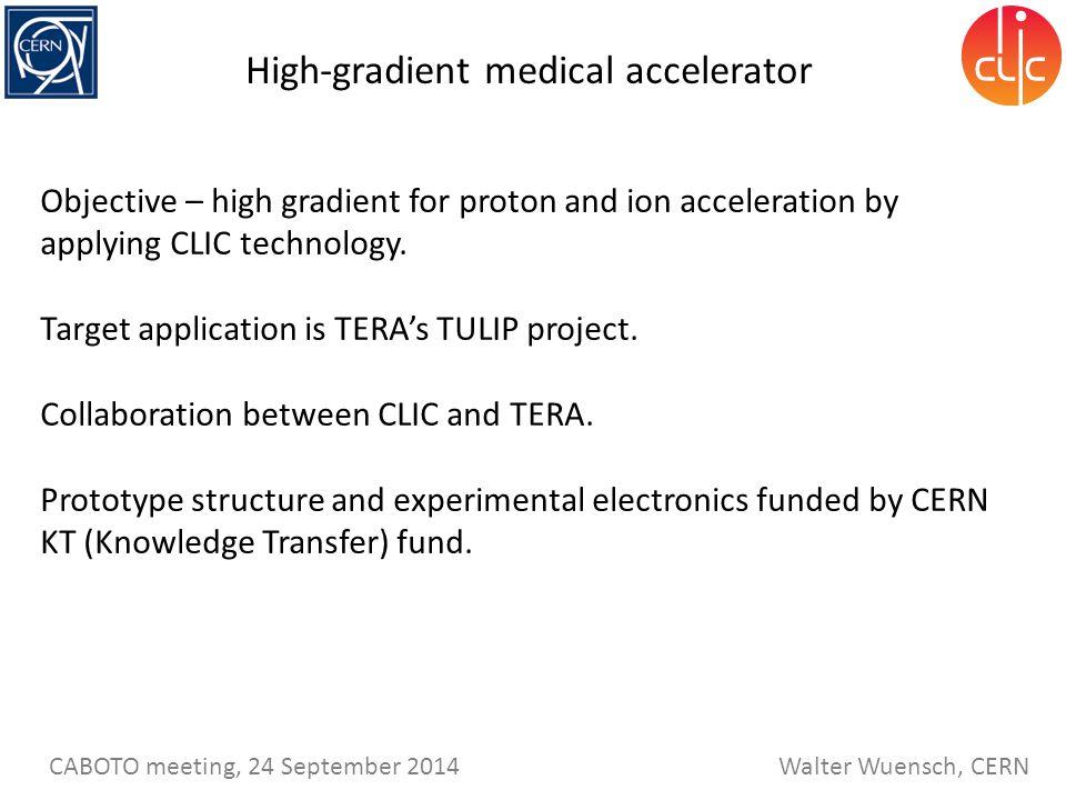 High-gradient medical accelerator