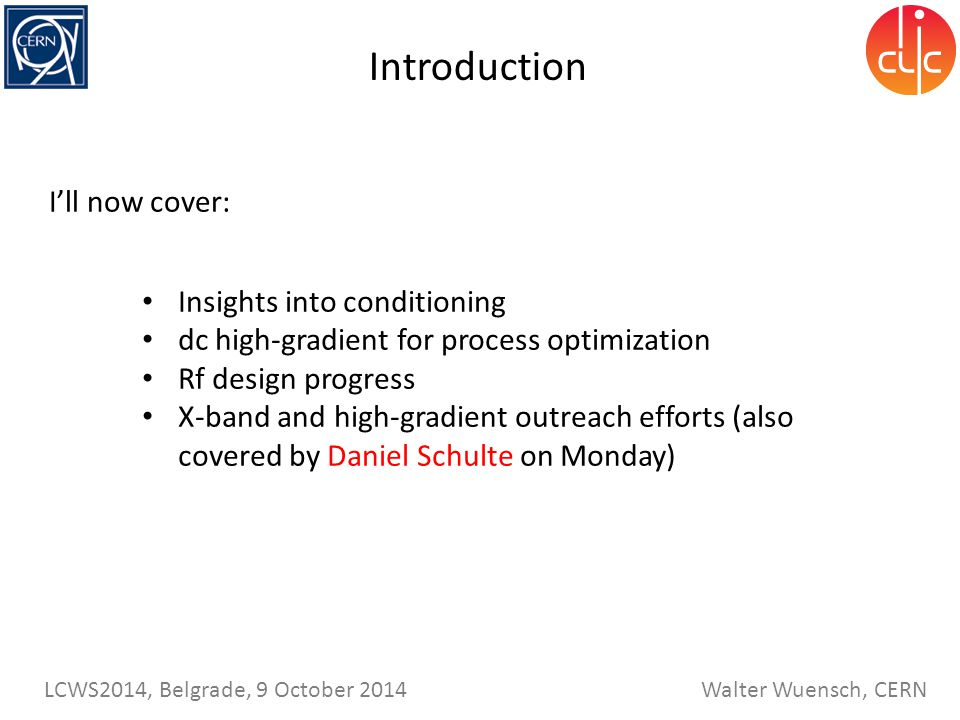Introduction I'll now cover: Insights into conditioning