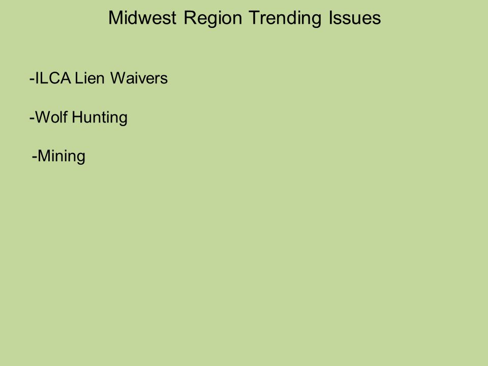 Midwest Region Trending Issues