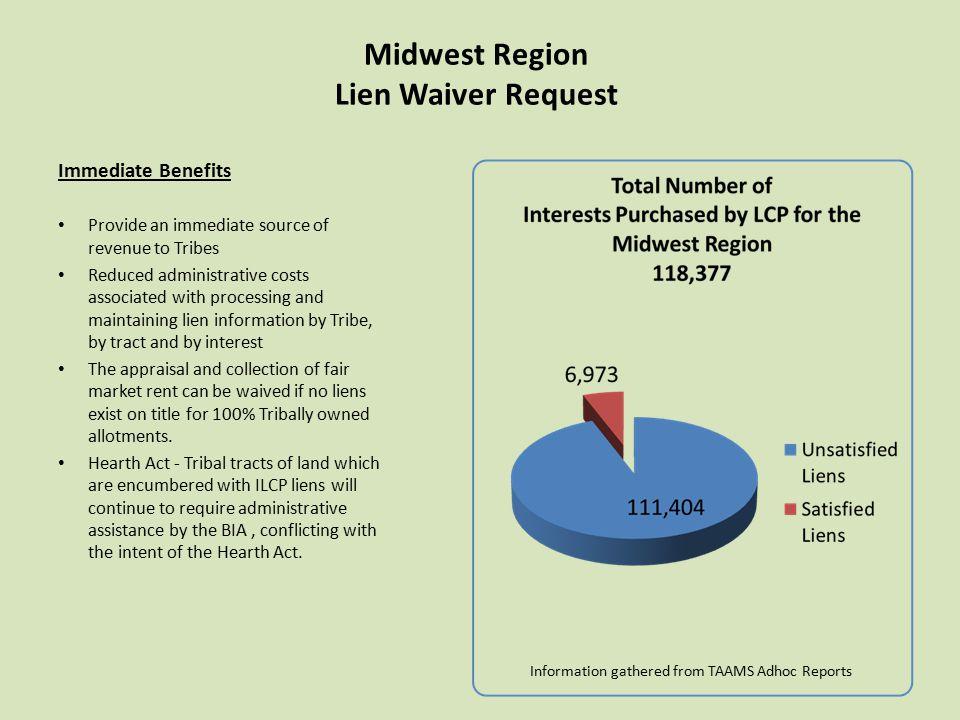 Midwest Region Lien Waiver Request